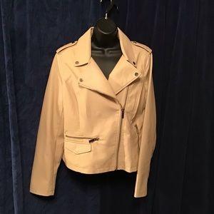 NWT NY&CO moto jacket, Beige, size Lg, fully lined